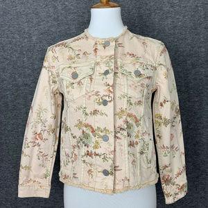 Rebecca Taylor La Vie Floral Jean Jacket XS